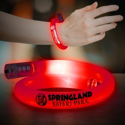 Red Flashing Coil Tube Bracelet