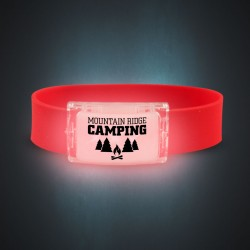 Red LED Silicone Wristbands