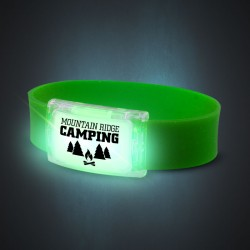 Green LED Silicone Wristbands