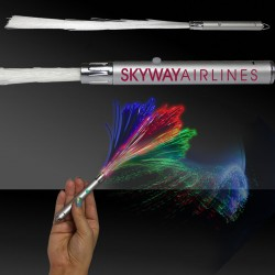"Fiber Optic 14"" Wand with Silver Handle"