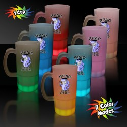 White Plastic Multi Color LED Mug - 20 Ounces