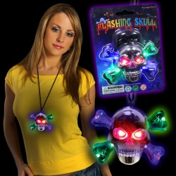 LED Skull and Crossbones Necklace