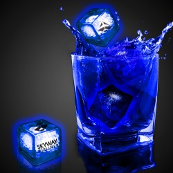 Imprinted Blue Liquid Activated Light Up Ice Cubes