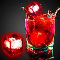 Blank Red Liquid Activated Light Up Ice Cubes