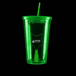 Green Light Up Travel Cup with Star Insert