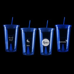 Blue Light Up Travel Cup with Insert