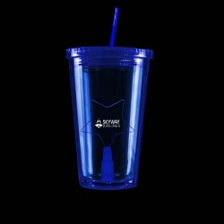 Blue Light Up Travel Cup with Star Insert