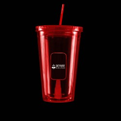 Virtual Proof Red Light Up Travel Cup with Dog Tag Insert