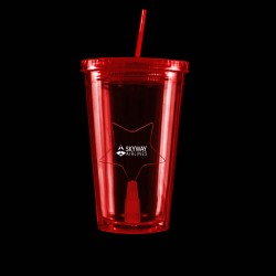 Red Light Up Travel Cup with Star Insert
