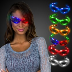 LED Flashing Sunglasses - Variety of Colors