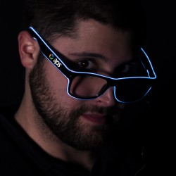 White LED EL Sunglasses