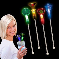 Light Up Cocktail Stirrers - Variety of Colors