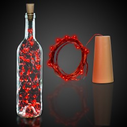 Red Cork String Light Set