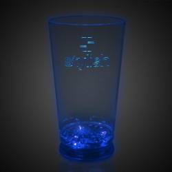 16oz Blue LED Pint Glass
