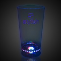 Flashing Multi-Color LED Pint Glass