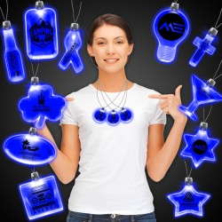 Blue Light Up Pendant Necklaces