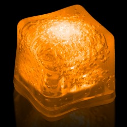 Blank ORANGE Lited Ice Cubes