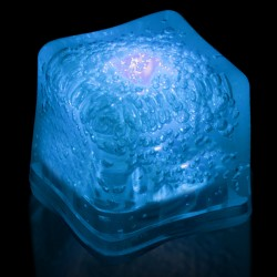 Blank BLUE Lited Ice Cubes