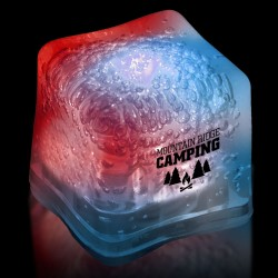 Imprinted RED-WHITE-BLUE Lited Ice Cubes