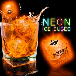 Neon Orange Lited Ice Cubes