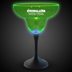 Green Neon LED Margarita Glasses