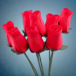 Red Wooden Roses