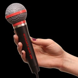 Plastic Toy Microphone - 10 Inch