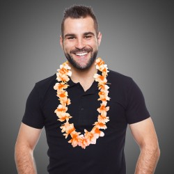 Orange Flower Leis