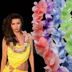 Single Color Flower Leis - 36 Inch