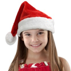 Children's Plush Santa Hat
