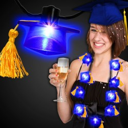 LED Graduation Cap Necklace