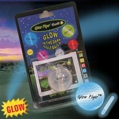BLUE GLOW FLYER GOLFBALL   w/1 MINI LIGHTSTICK   (Retail Blister Card)