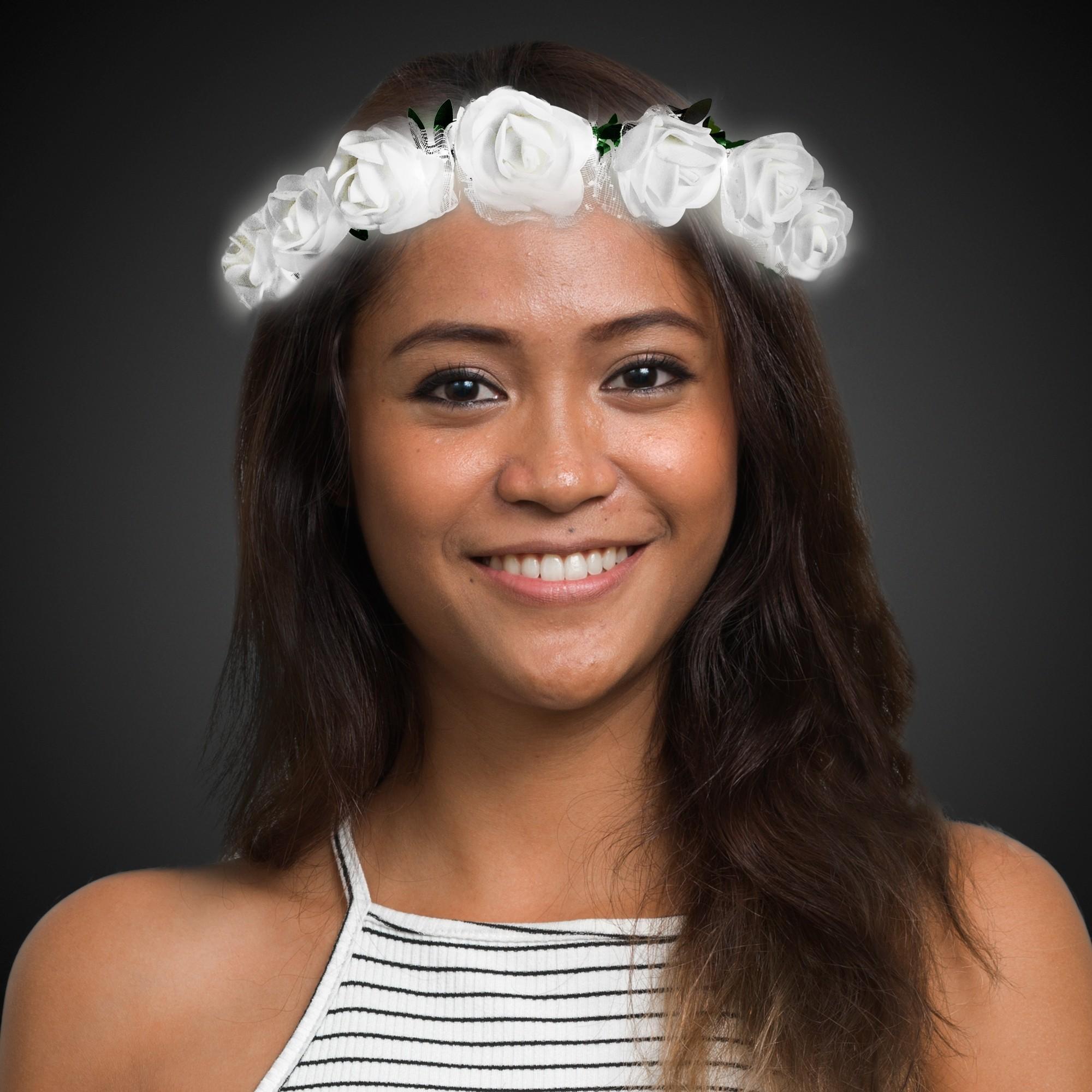 White Roses LED Halo Headband