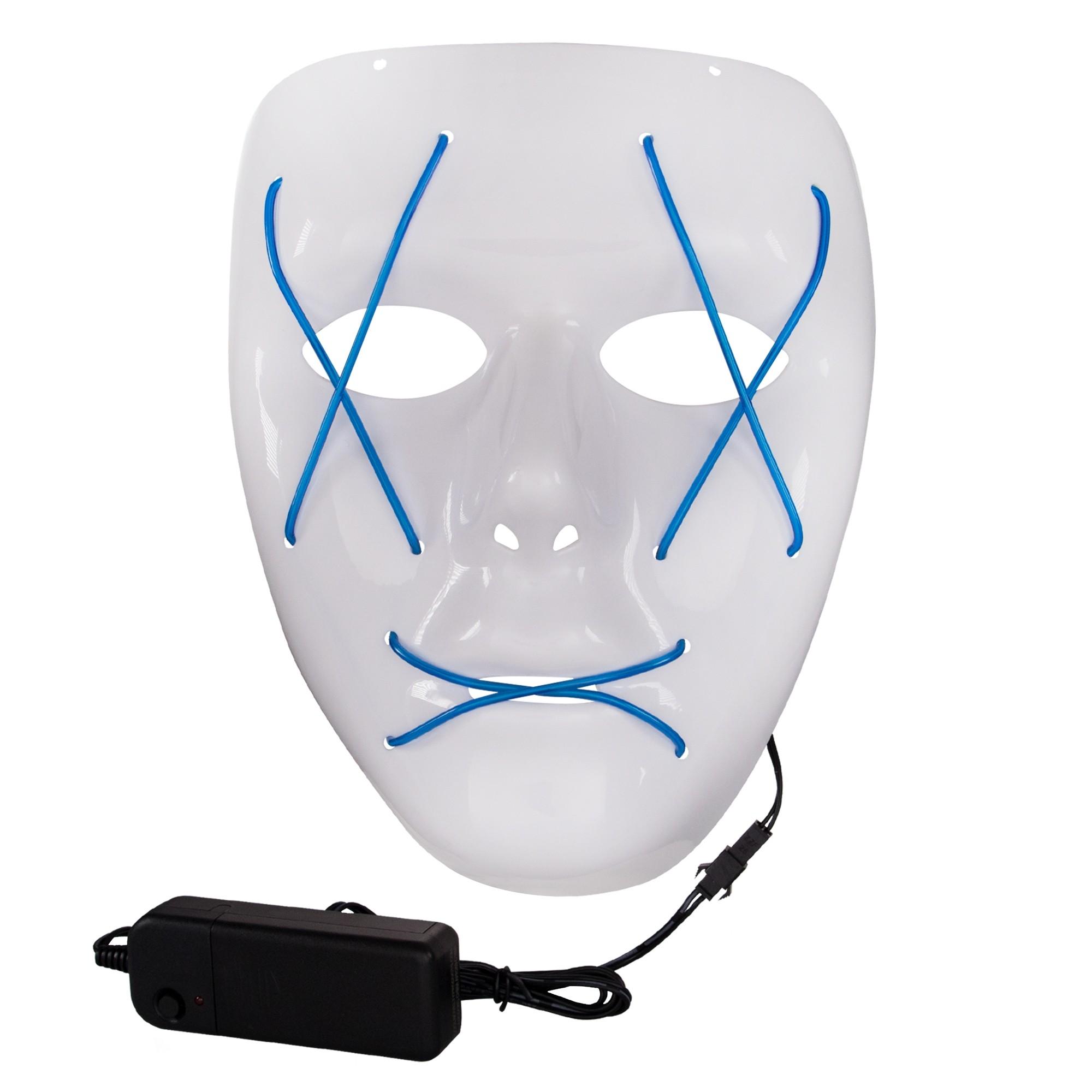 Light Up Blue EL Wire Mask - Sunglasses, Eyeglasses & Masks