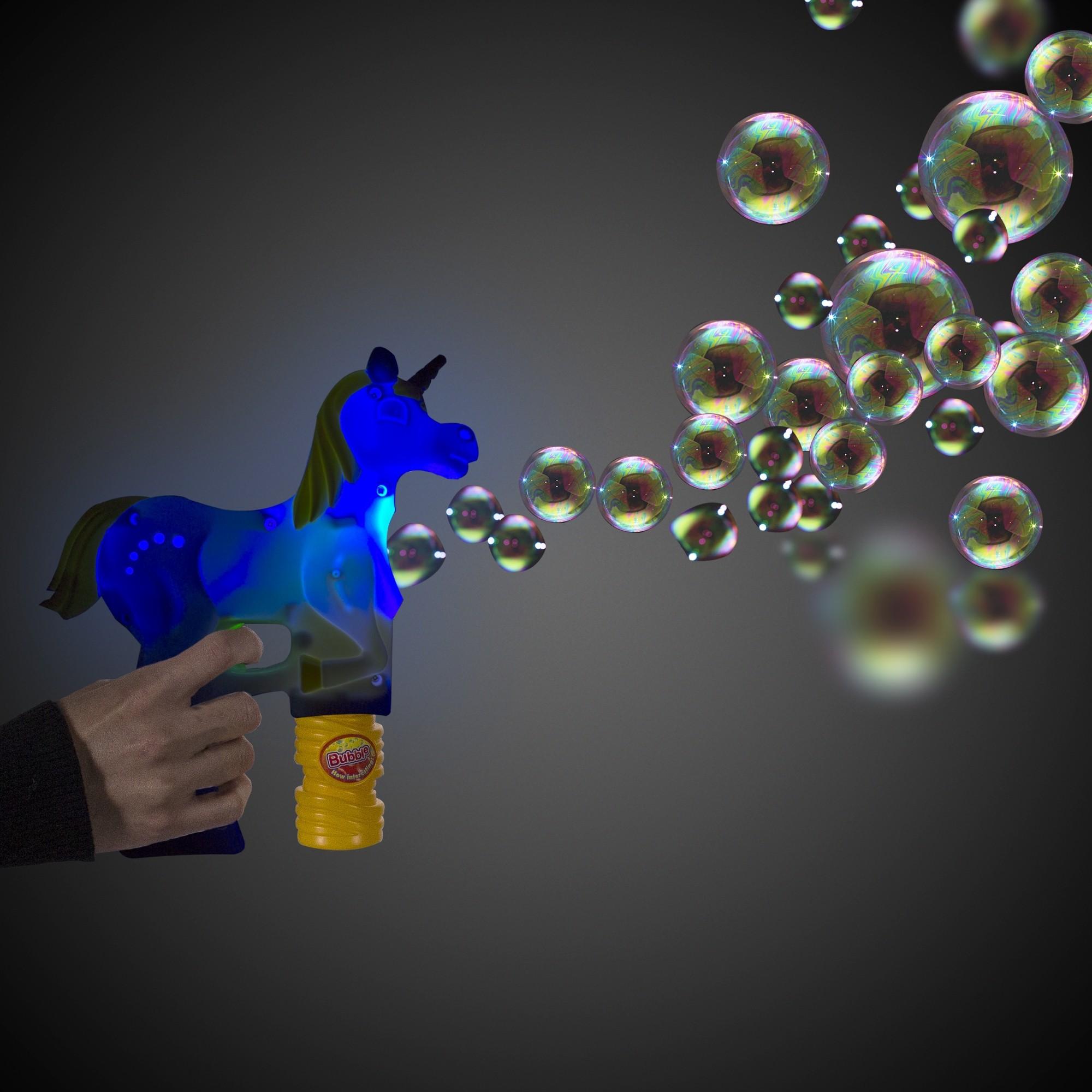 Magical LED Unicorn Bubble Gun