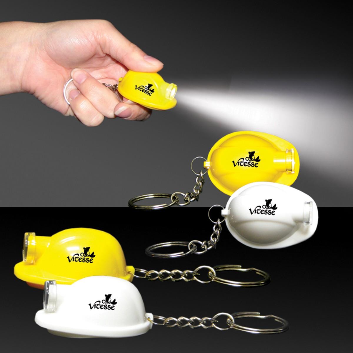 Safety Helmet Flashlight Keychain