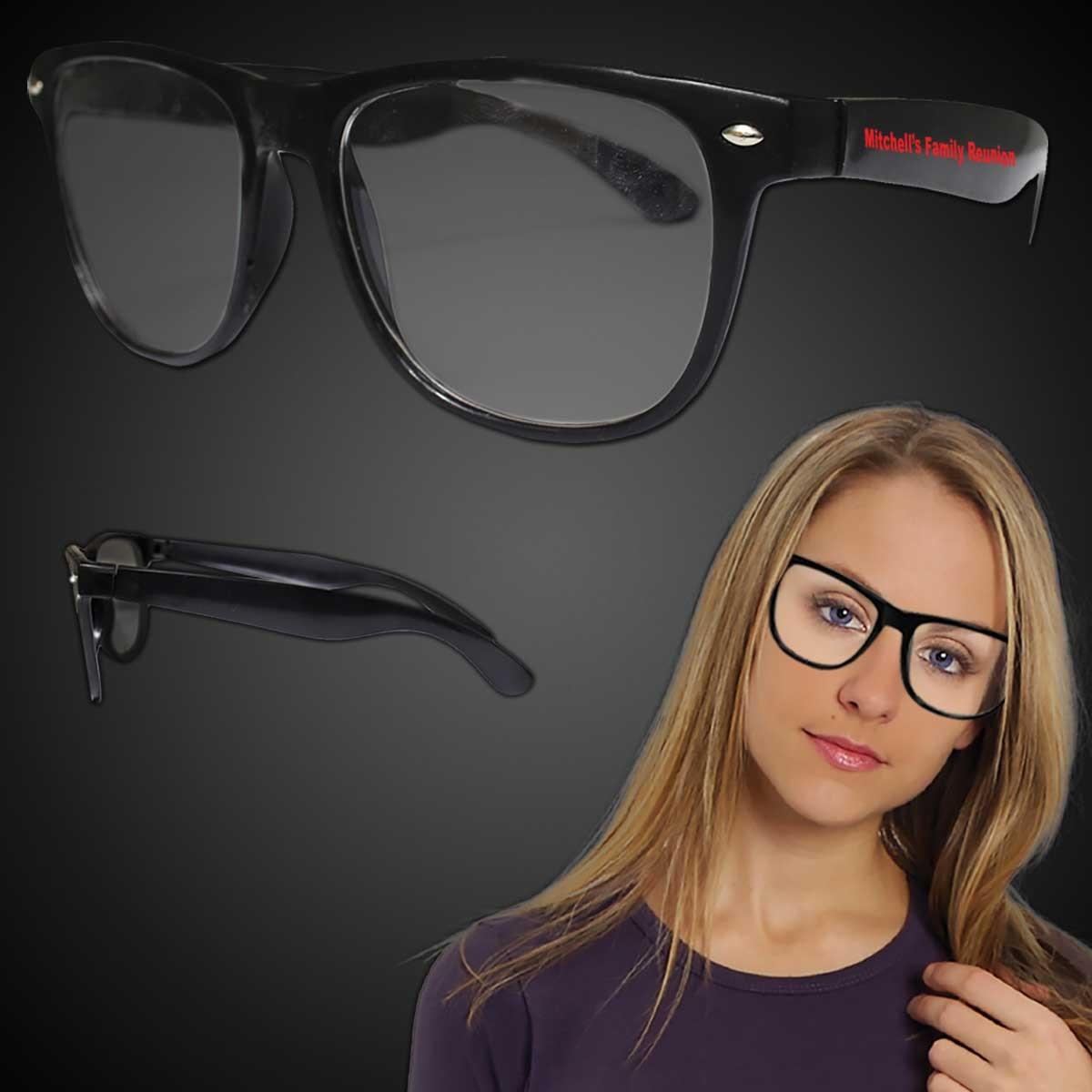 Black Frame 50's Eyeglasses