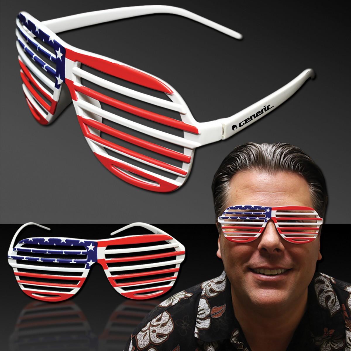 Patriotic Slotted Shutter Shade Eyeglasses