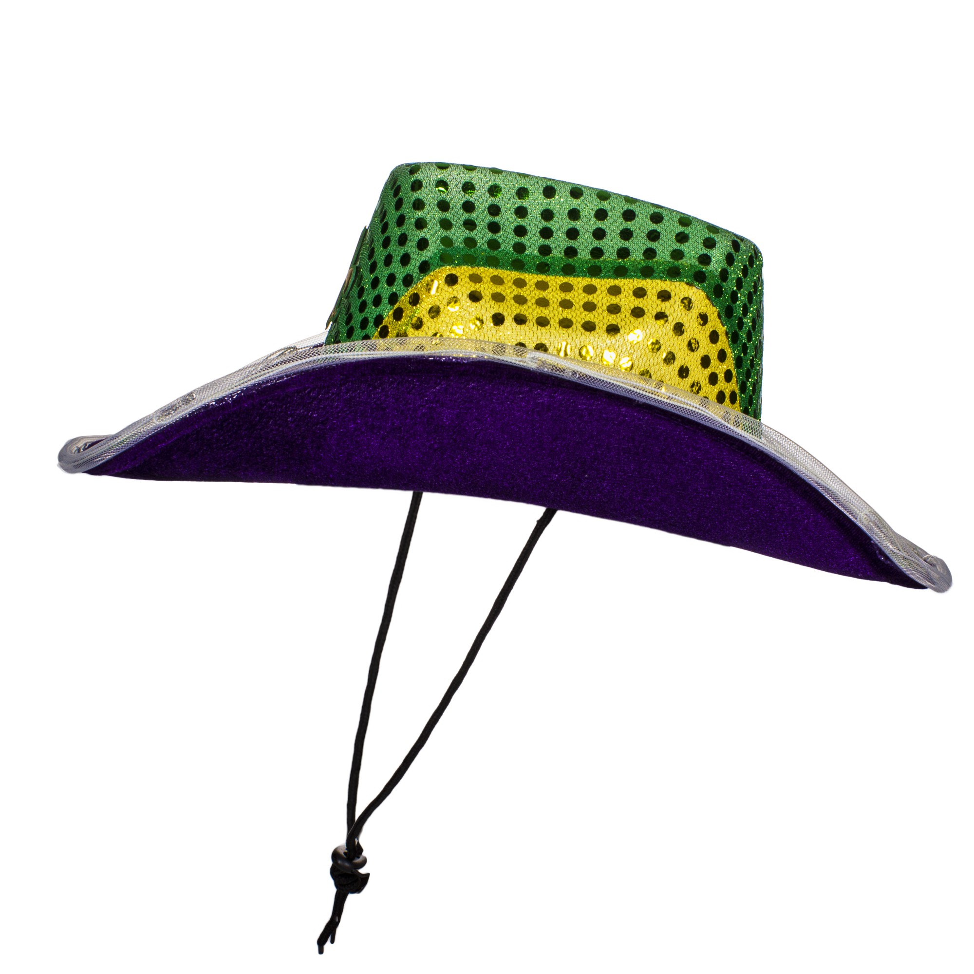 Mardi Gras LED Sequin Cowboy Hat. Double click on above image to view full  picture 14233f48ef49