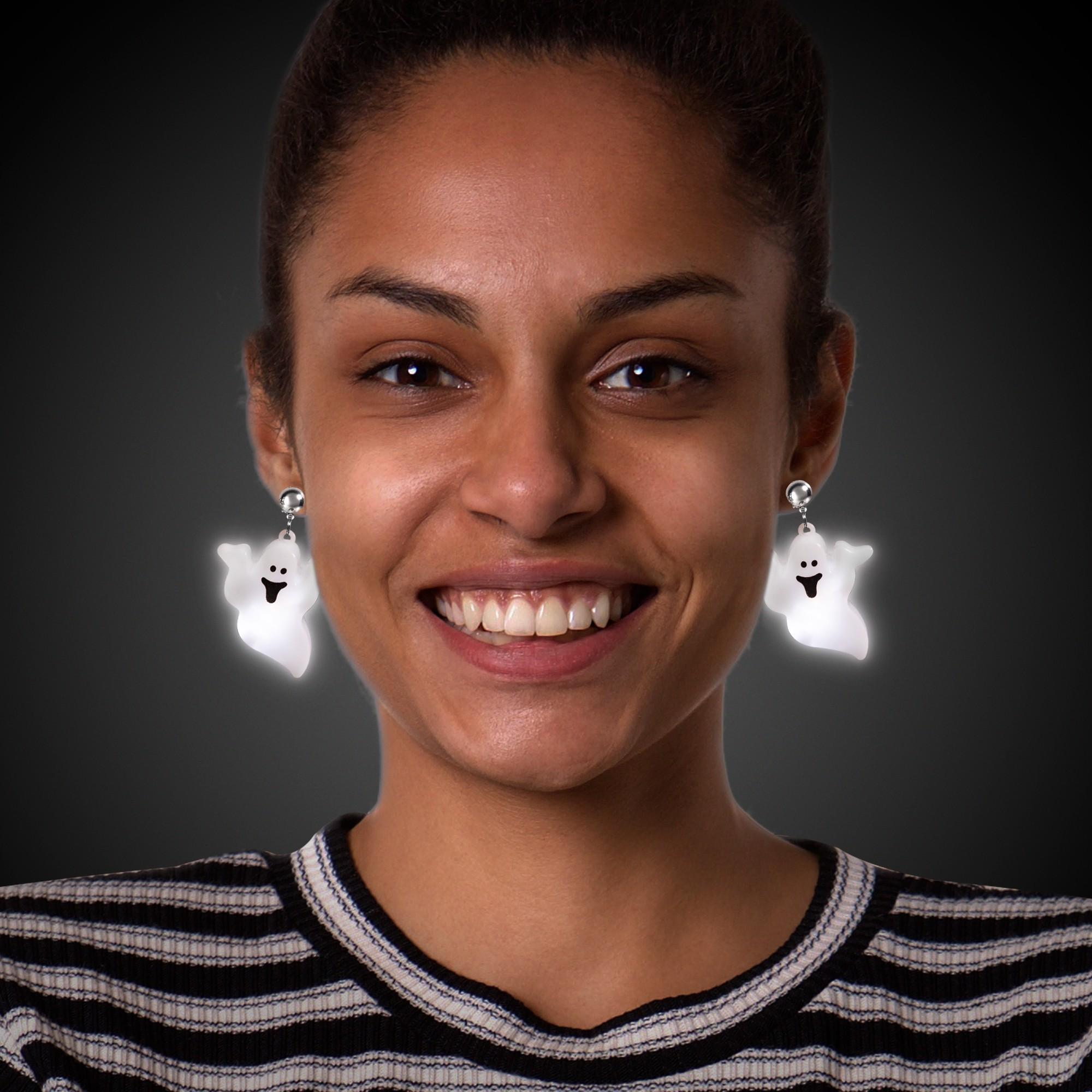 Jumbo Ghost LED Clip-On Earrings