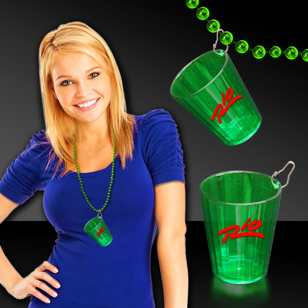Green Shot Glass Medallion