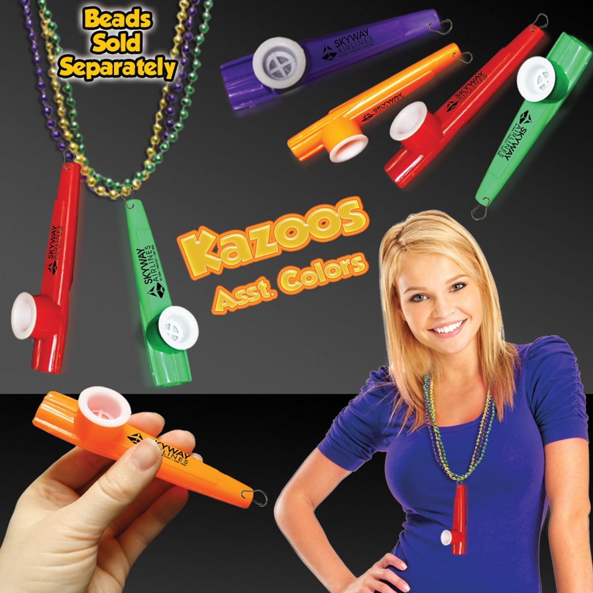Plastic Kazoo with Attached J - Hook