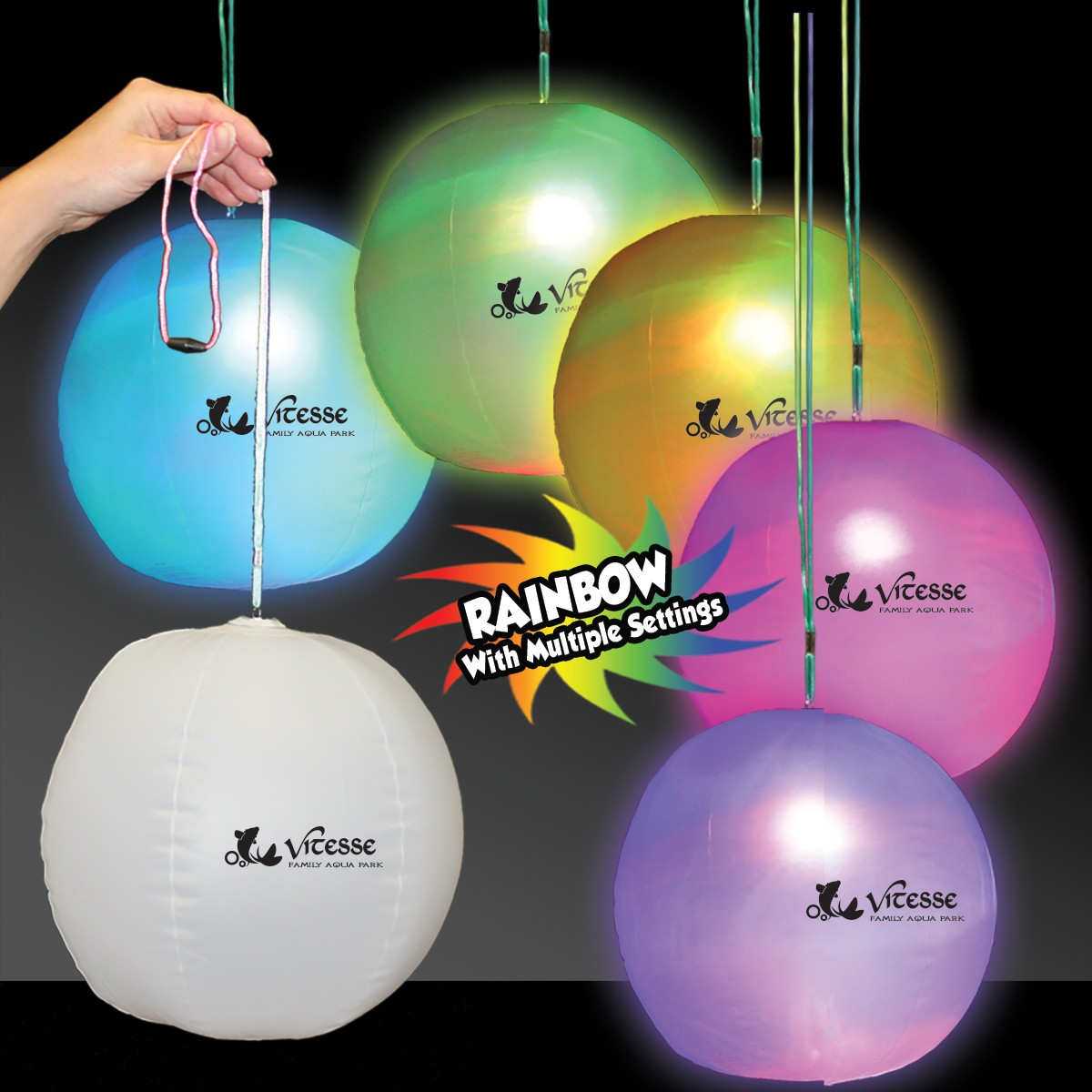 Light Up Inflatable LED Beach Ball Decoration