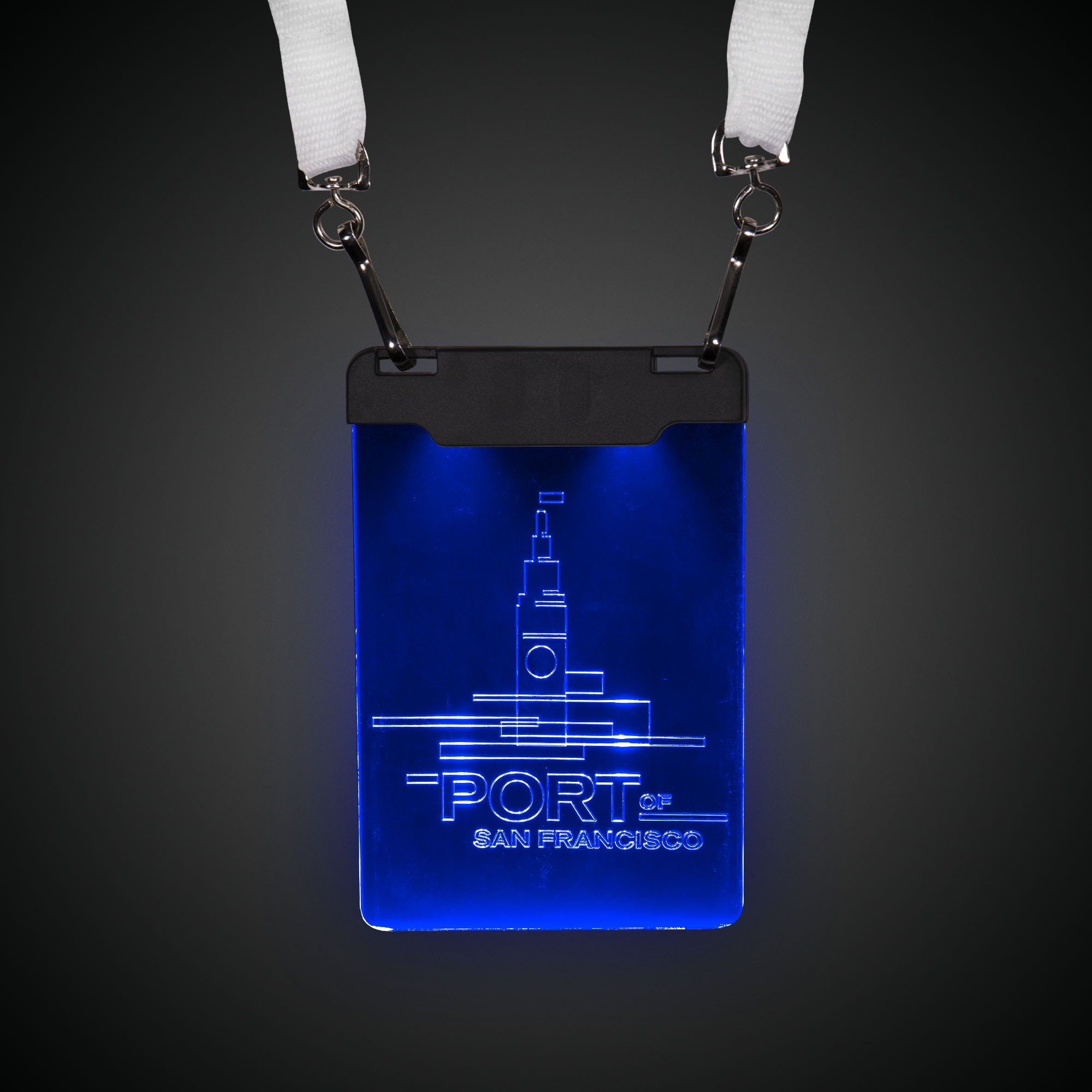 Blue Sound-Activated LED Badge
