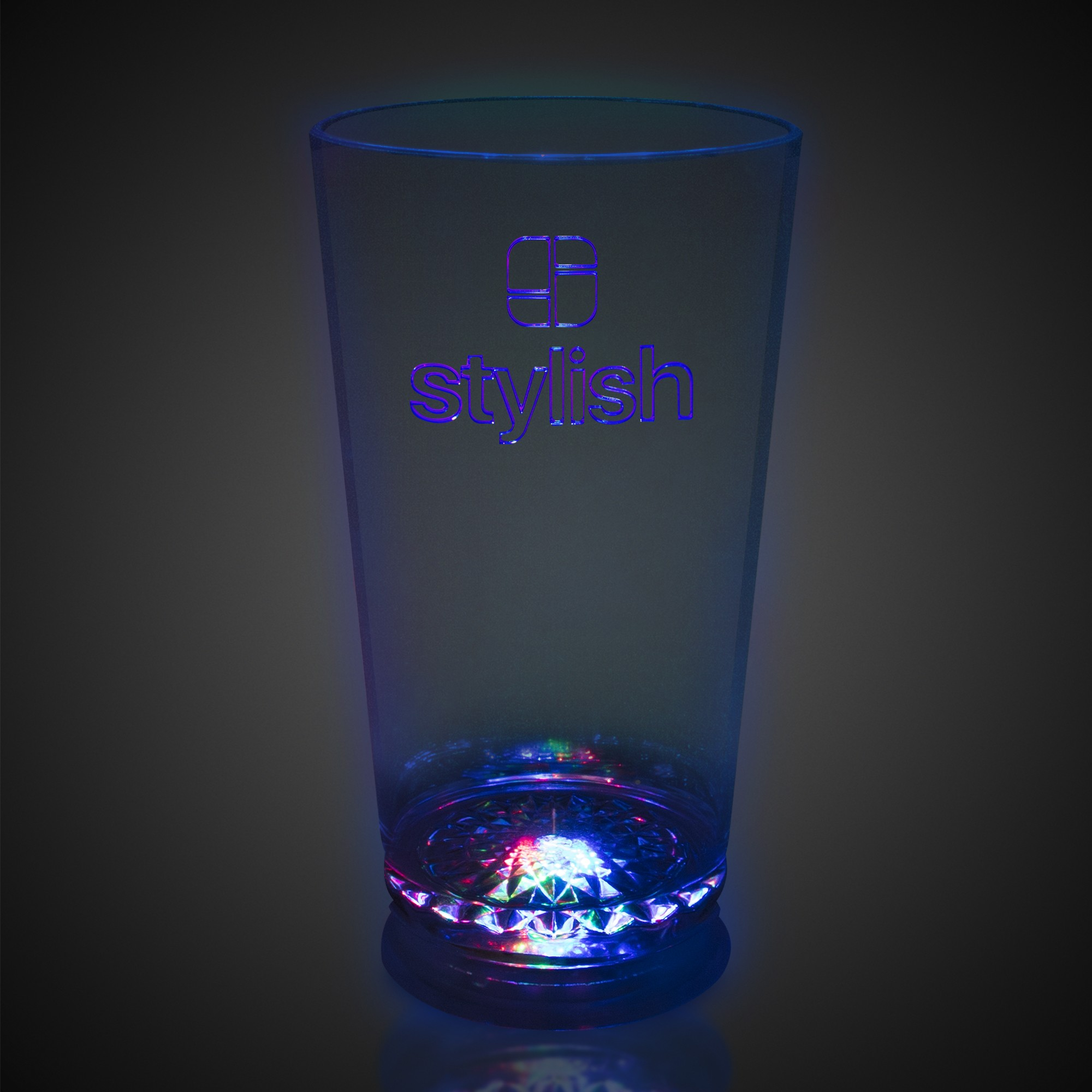 16oz Flashing Multi-Color LED Pint Glass