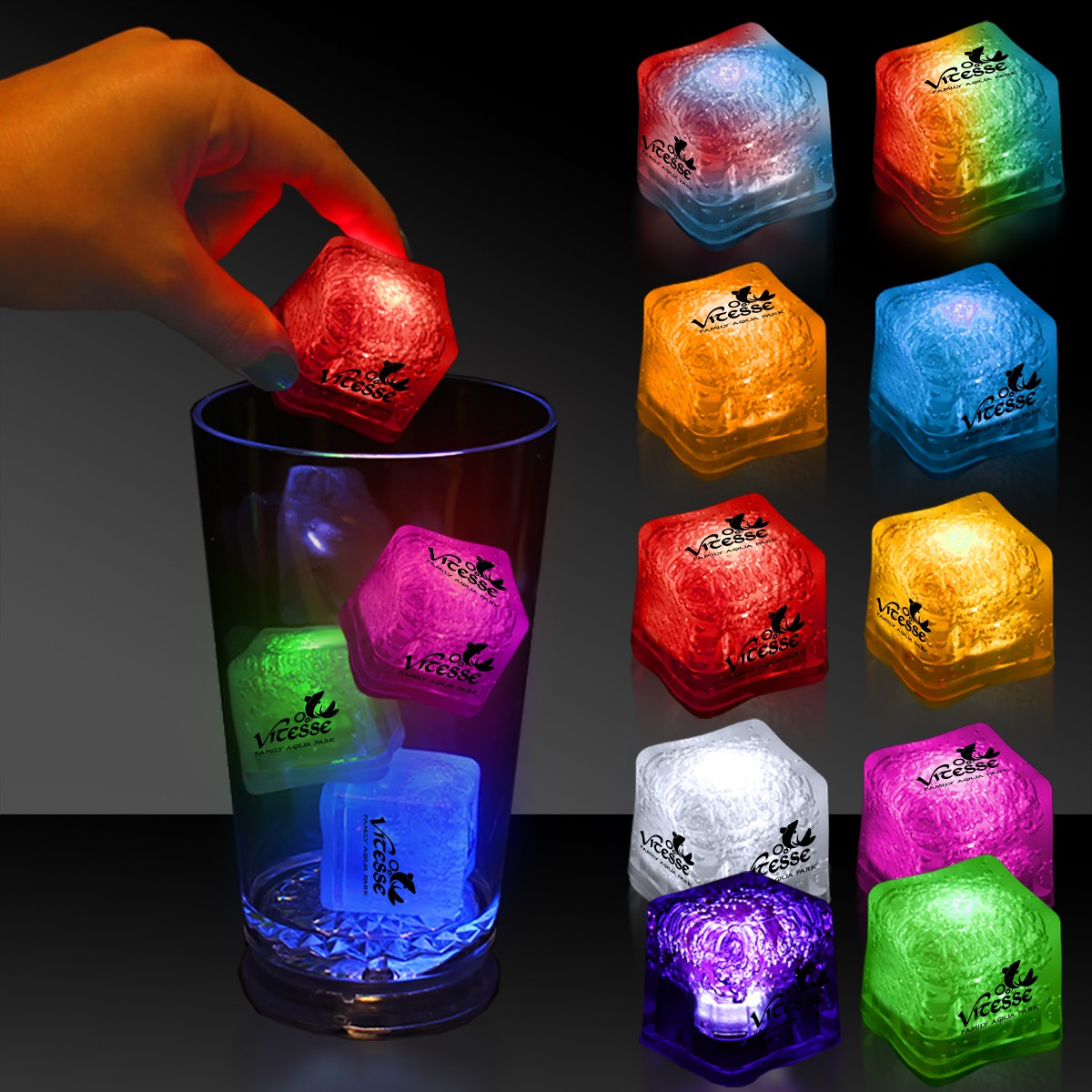 Imprinted Lited Ice Cubes - Variety of Colors