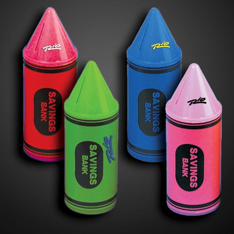 Assorted Color Crayon Savings Banks