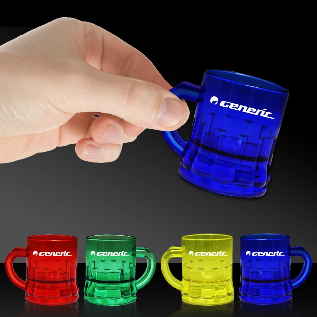 Assorted Color Mini Mugs - 1 Ounce