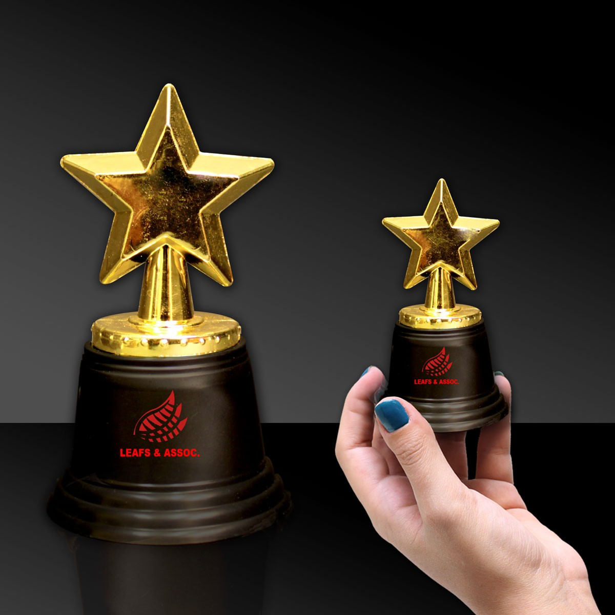 "5"" Gold Star Trophy"