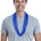 Solid Blue Mardi Gras Beads